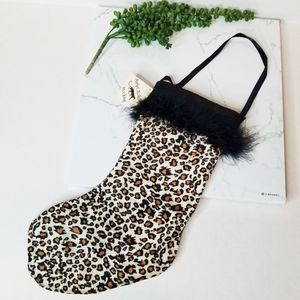 Other - Leopard Christmas Stocking NEW